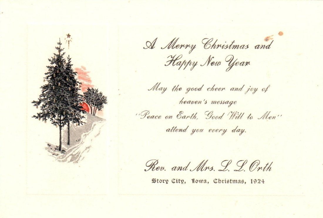 Collection items of the week vintage christmas cards museums these two cards were sent out by rev mrs ll orth of story city in the early 1920s rev orth was the pastor of grace evangelical church kristyandbryce Image collections